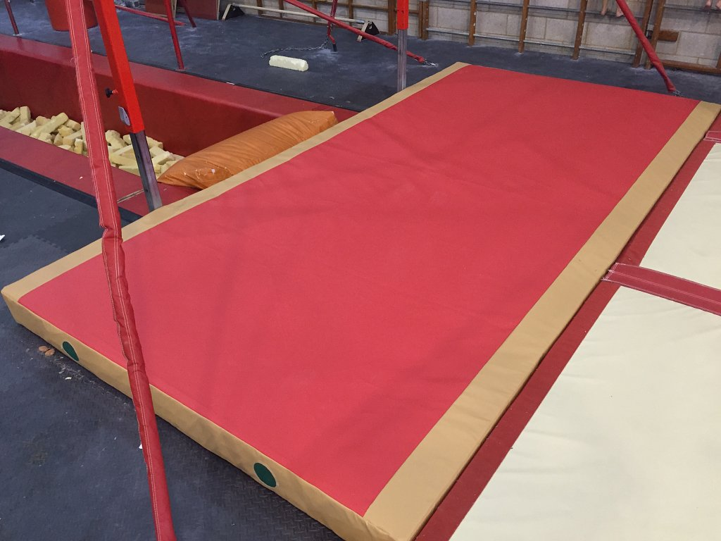 Large crash mat recovered for local gymnastics centre.